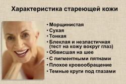 Характеристика стареющей кожи
