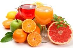 Сок фруктов для приготовления льда для лица
