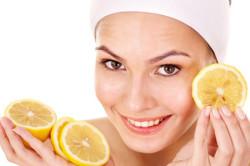 Отбеливание лица лимоном